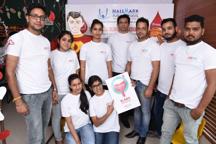 BLOOD DONATION CAMP HELD AT HALLMARK PUBLIC SCHOOL…